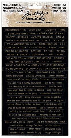 ***Pre-Order*** Tim Holtz - Idea-ology - Metallic Stickers - Holiday Talk (Christmas)