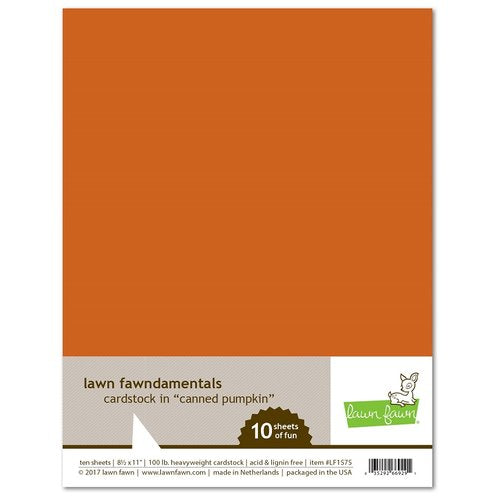 Lawn Fawn - Fawndamentals Cardstock - Canned Pumpkin - 10 Pack