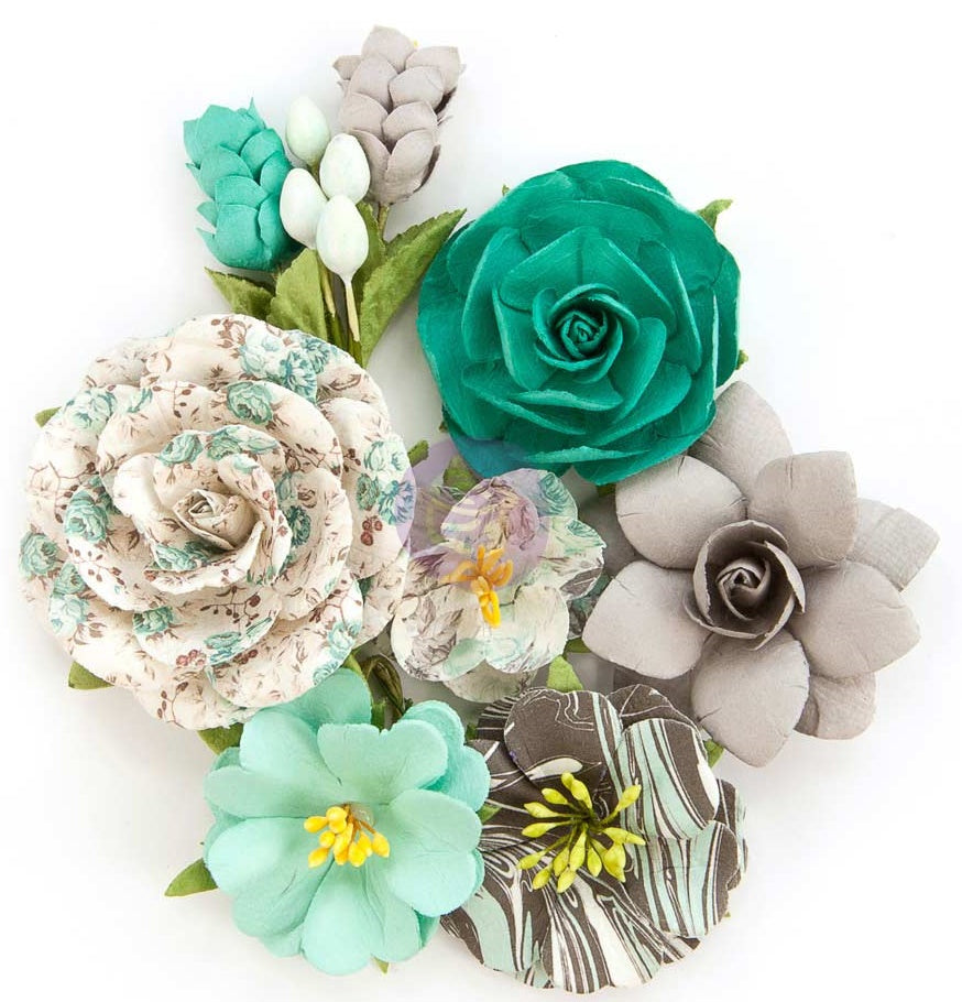 Prima Marketing - Zella Teal Flowers - Wanderer