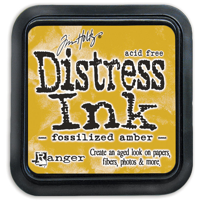 Ranger Tim Holtz Distress Mini Ink Pad FOSSILIZED AMBER
