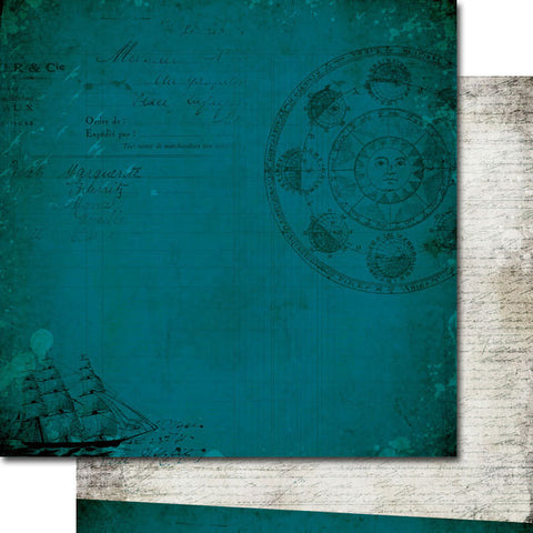 "7 Dot Studio Designer Paper - Destination Unknown - Night Sky 12"" x 12"" Double Sided"