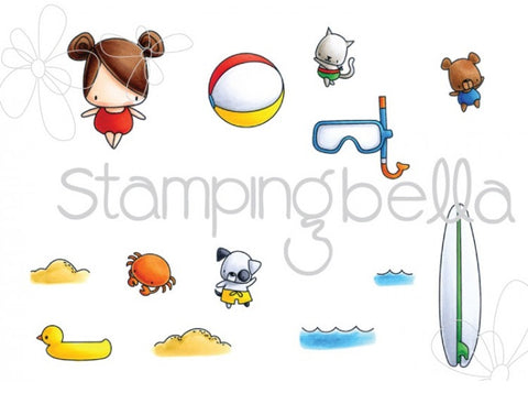 Stamping Bella - Cling Stamp Set - The Littles Snorkel