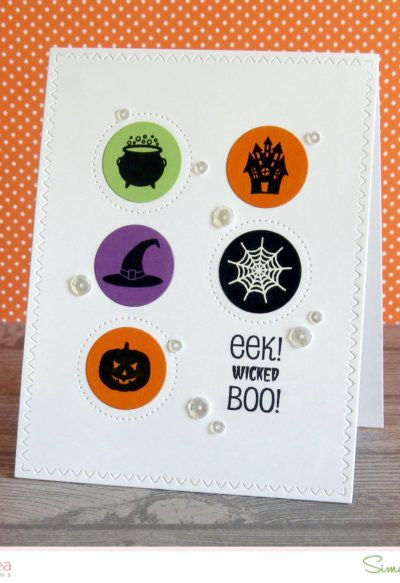 "Sugar Pea Designs - 4"" x 4"" Stamp Set - Sweet Treats ""Halloween"""