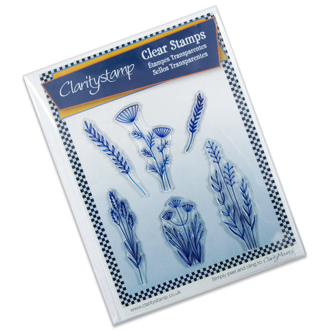 Clarity Stamp - Clear Stamp - Meadow Grasses Stamp Set