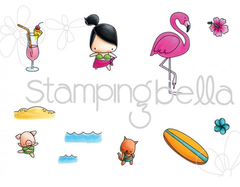 Stamping Bella - Cling Stamp Set - The Littles Surfer