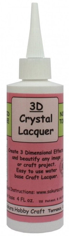 3D Crystal Lacquer - 4 oz. bottle