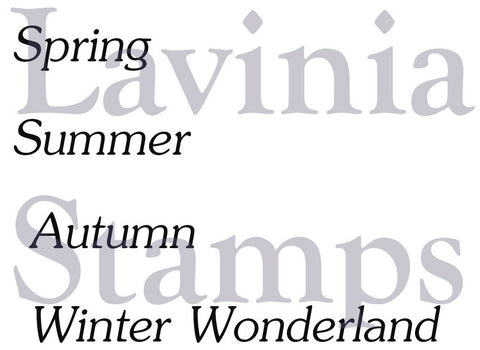Lavinia Stamps - Words and Verses - Seasonal Words