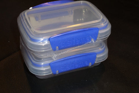 "Sistema Plastic Containers 2 packs, 4"" x 3"" for holding glitters, embossing powder, and more! Storage"