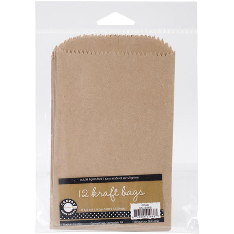 "Kraft Small Paper Bags from Canvas Corp  12 bags to Package 3 1/2"" x 5 1/4"" Mini Album"