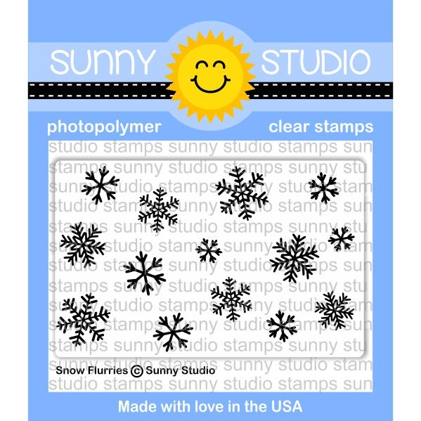 Sunny Studio - Photopolymer Clear Stamps -Snow Flurries