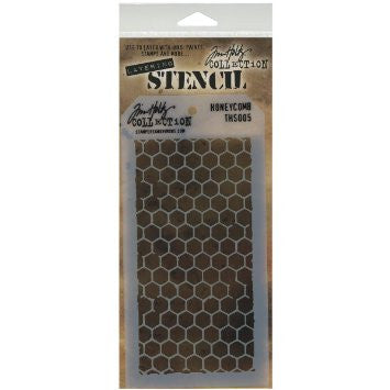 Stampers Anonymous - Tim Holtz - Layering Stencil - Honeycomb