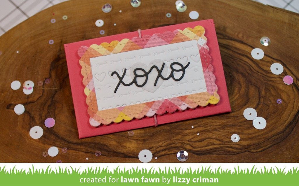 Lawn Fawn, Lawn Cuts Custom Craft Dies - Stitched Heart Envelope (Availability: February 20, 2017)