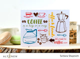"Altenew - 6"" x 8"" Stamp Set - Coffee Love (coordinates with Coffee Love Die Set)"