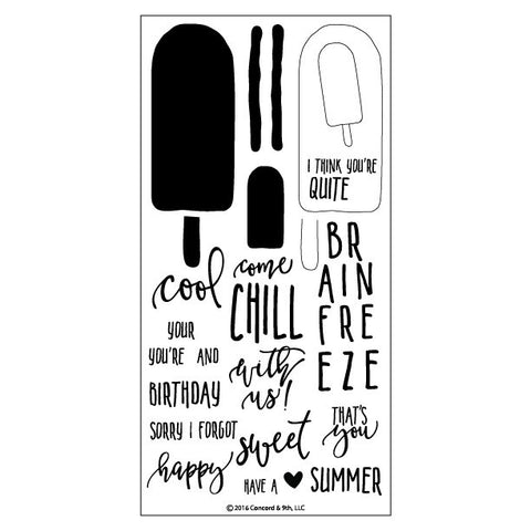 "Concord & 9th - 4"" x 8"" Stamp Set - Sweet & Cool (coordinates with ""Sweet & Cool"" Dies)"