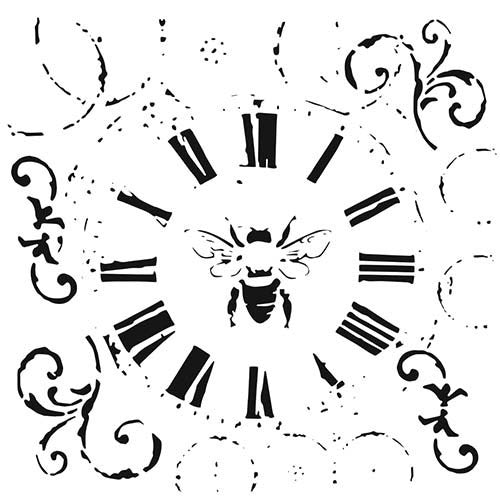 "TCW 6"" x 6"" Stencil - Rebekah Meier - Mini Bee on Time"