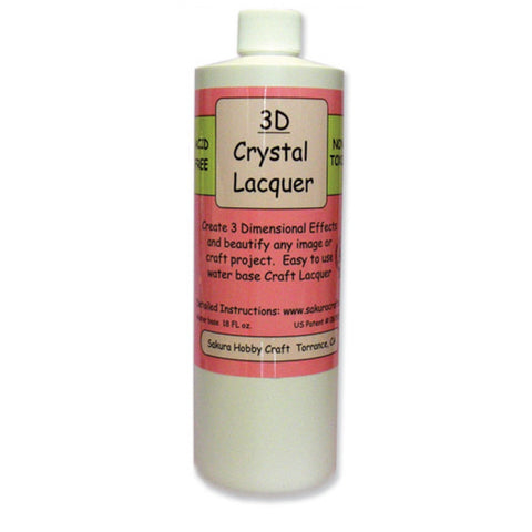 3D Crystal Lacquer - 18 oz. refill
