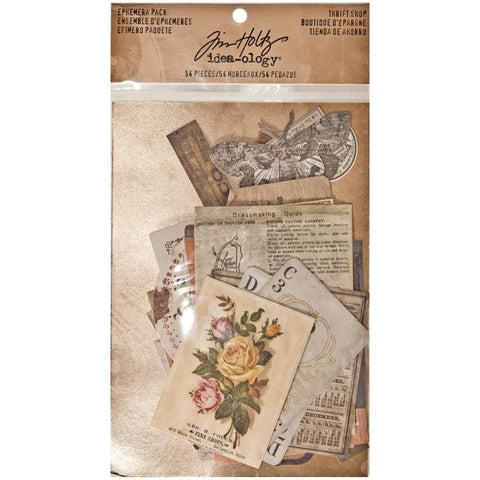 Tim Holtz Idea-Ology Ephemera Pack 54/Pkg - Thrift Shop
