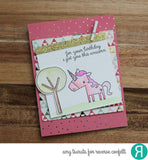 "Reverse Confetti - 4"" x 4"" Stamp Set - Unicorn Wishes"