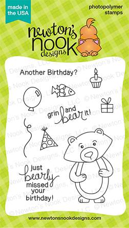 "Newton's Nook Designs - 3"" x 4"" Clear Stamps - Winston's Birthday"