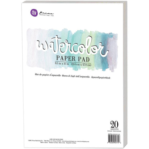 "Watercolor 140lb Cold Press Paper Pad 8.5""X11"" 20/Pkg"