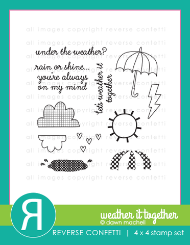 "Reverse Confetti - 4"" x 4"" Stamp Set - Weather It Together"