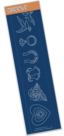 ***New Item*** Clarity Stamp - Wedding Decorations - Groovi Border Plate A4