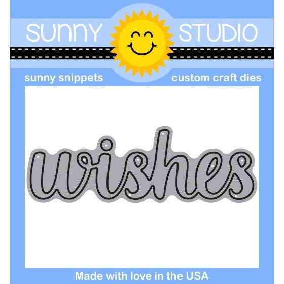 Sunny Studio - Sunny Snippets Custom Craft Dies - Wishes Word
