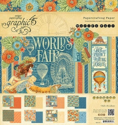Graphic 45 - 8x8 Paper Pad -  World's Fair