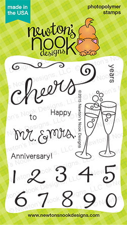 "Newton's Nook Designs - 3"" x 4"" Clear Stamps - Years of Cheers"