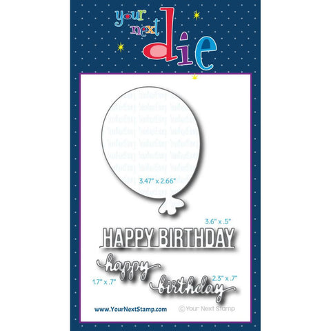 Your Next Stamp - Dies - Big Birthday Balloon