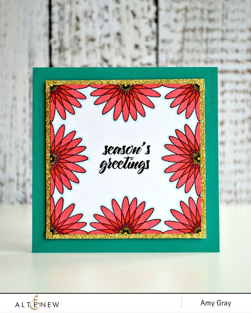 "Altenew - 6"" x 8"" Stamp Set - Geometric Flowers"