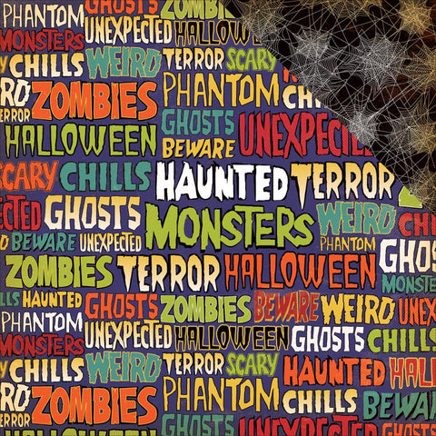 Carta Bella - Haunted House Double-Sided Cardstock - Ghastly Words (Halloween)