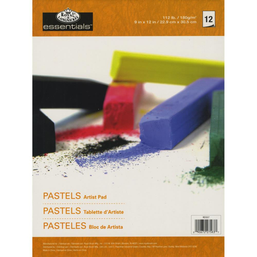 "Essentials Pastels Artist Paper Pad 9""X12"" - 12 pages"