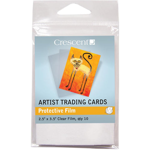 "Crescent Artist Trading Cards 2.5""X3.5"" 10/Pkg - Protective Film"