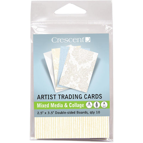 "Crescent Artist Trading Cards 2.5""X3.5"" 10/Pkg - Mixed Media & Collage - Vintage Prints"