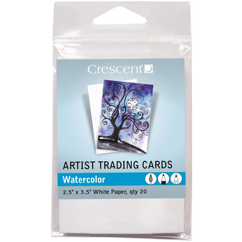 "Crescent Artist Trading Cards 2.5""X3.5"" 20/Pkg - Watercolor"