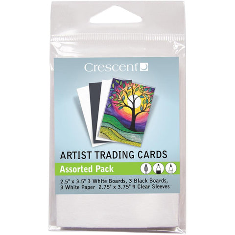 "Crescent Artist Trading Cards 2.5""X3.5"" 10/Pkg - Assorted Pack"