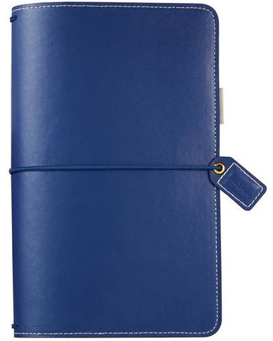 Webster's Pages - Faux Leather Travelers' Planner - Navy