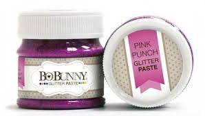 BoBunny Double Dot Glitter Paste- Pink Punch