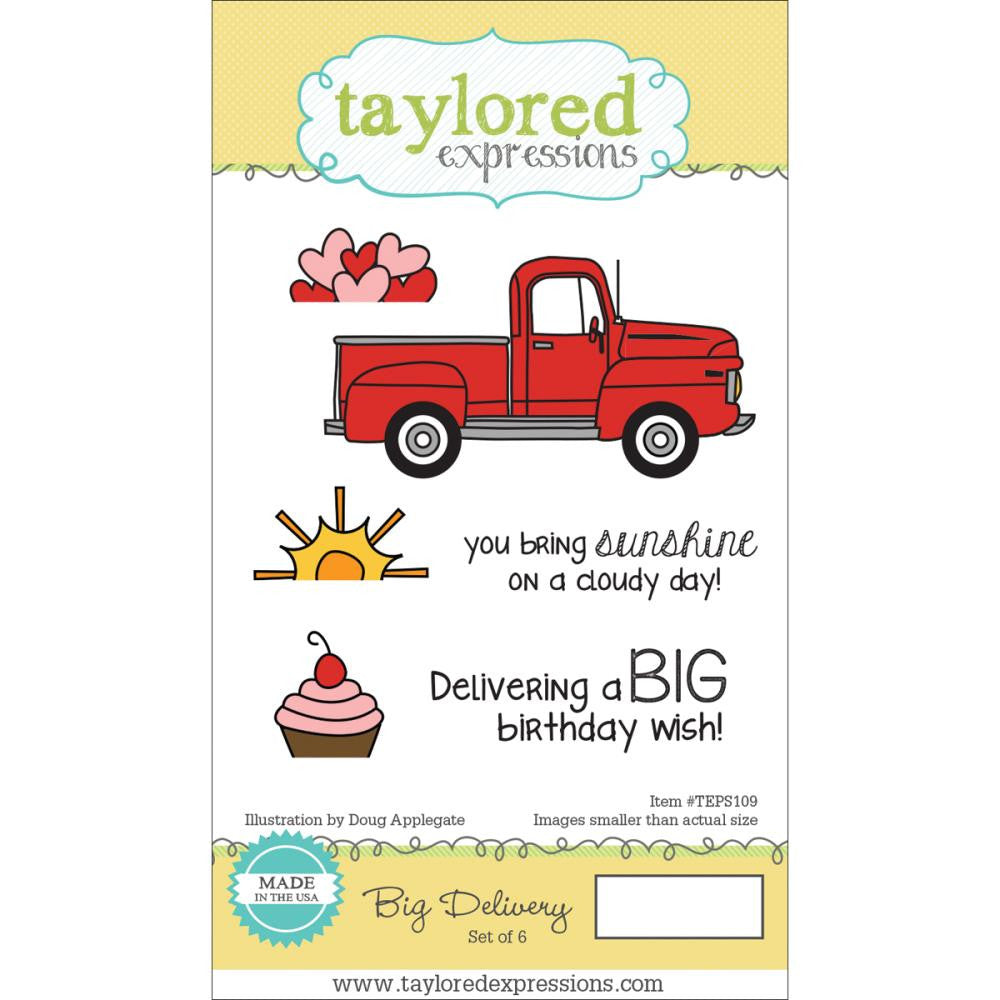 "Taylored Expressions Cling Stamp & Die Set 5.5""X3"" - Big Delivery"