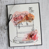 "Concord & 9th - Clear Stamps 4""X8""  - Happy Day"