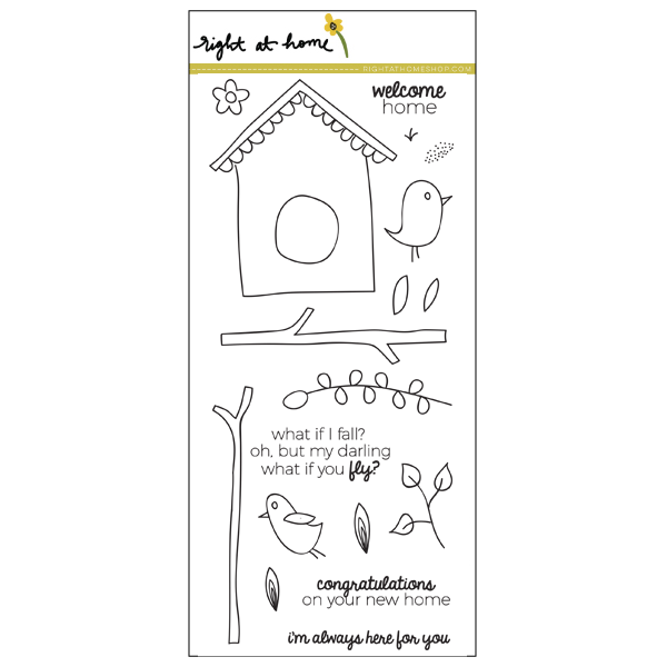 "Right at Home - 4"" x 8"" Stamp Set - Birdhouse"