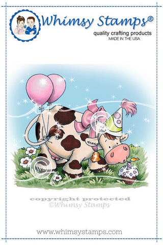 Available 2/11-Whimsy Stamps -Birthday Cow