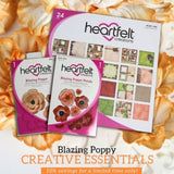 Heartfelt Creations Cut & Emboss Dies - Blazing Poppy (Coordinates with Blazing Poppies Cling Stamp Set)