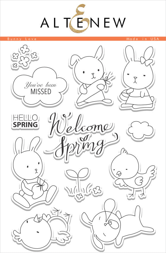 "Altenew - 6""x8"" Clear Stamp Set - Bunny Love"