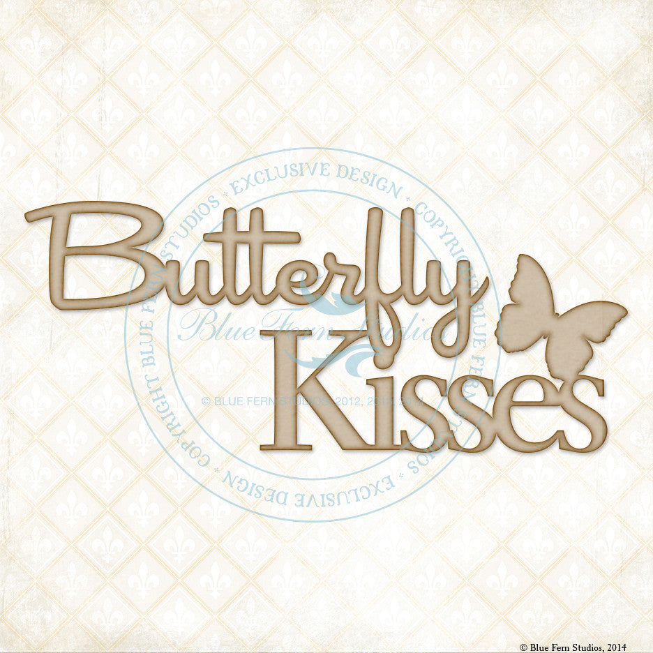 Blue Fern Studios - Chipboard - Butterfly Kisses