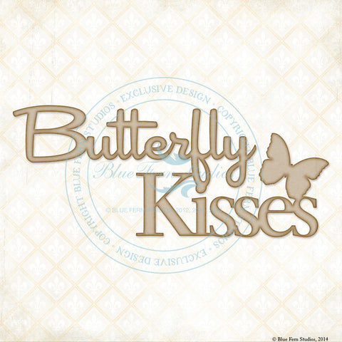 ***New Item*** Blue Fern Studios - Chipboard - Butterfly Kisses