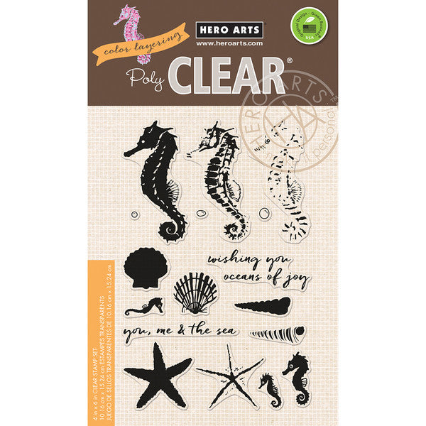 Hero Arts - Clear Stamps - Color Layering Seahorse