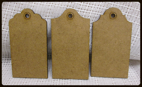 "Fernli Designs Wooden Tags - Measure appox.  3.75"" x 2""  sold in set of 3 (assorted)"