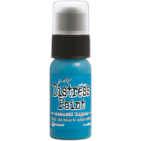 Ranger Tim Holtz Distress Paint 1oz Bottle - March Color of the Month - Mermaid Lagoon